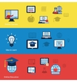 Online education banners vector image