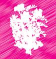 flowers bouquet stencil vector image