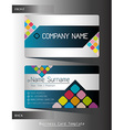 A business card template vector image