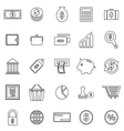 Money line icons on white background vector image