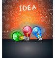 Conceptual LIght Bulb IDEA backgroud with space vector image vector image
