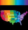 Equal USA rainbow vector image
