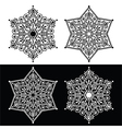 Christmas snowflake decoration - embroidery style vector image