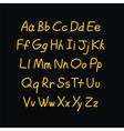 Contour comic style doodle alphabet font vector image vector image