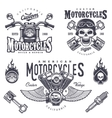 Set of vintage motorcycle emblems vector image