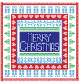 Merry Christmas in tile vector image