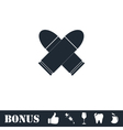 Bullet icon flat vector image