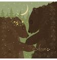 Couple of hugging bears vector image