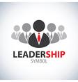 Leadership symbol icon vector image