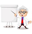 Professor teaching vector image