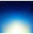Stars In Night Sky vector image