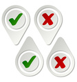stylish pointing checkmark stickers vector image