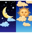 Sun and moon vector image