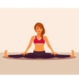 yoga girl doing the splits vector image