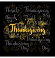 Thanksgiving Lettering Black Set vector image
