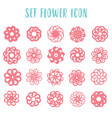 set icon geometric flowers vector image