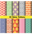 retro pattern unit collection 3 vector image