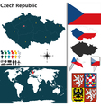 Czech Republic map world vector image