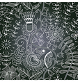 chalkboard seamless floral pattern Copy that vector image