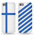 Rear covers smartphone with flags Finland vector image vector image