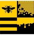 Bee Honeycells and Honey Patterns Set vector image