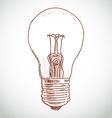 idea lightbulb sketch on white background vector image