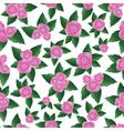 pink rose seamless flower vector image