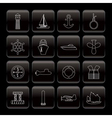 line marine and sea icons vector image vector image