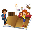Couple living in the house vector image
