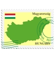 mail to-from Hungary vector image