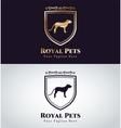 Abstract pet dog logo concept vector image