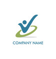 active people check list logo vector image