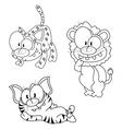 Cartoon big cats vector image