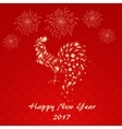 Chinese New year 2017 greeting card design vector image