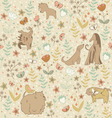 Dogs spring pattern vector image