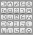 education grey buttons3 vector image