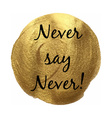 Never Say Never Banner vector image