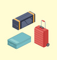 travel bags isometric vector image