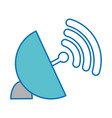 wifi and antenna design vector image