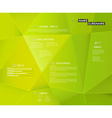 Creative cv template with 3d effect on green vector image vector image