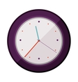 colorful silhouette watch time device vector image