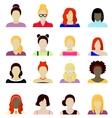 women cartoon portraits set vector image vector image