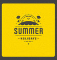 Summer holidays poster design on textured vector image