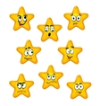 Cartoon stars with different emotions vector image vector image