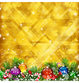 Christmas golden background and place for your vector image vector image
