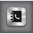 Notepad icon - metal app button vector image