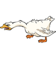 angry goose vector image vector image