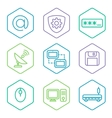 data analytics icons set big data concept icons vector image vector image
