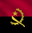 Angola flag vector image