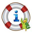 Parrot Information Kioski Sign vector image vector image